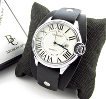 Унисекс часовник с каишка тип гривна
