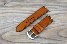 Каишка за Apple Watch от Естествена Кожа      / Кафява / Ръчно зашита