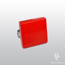 Квадратен Пръстен в Червен Цвят