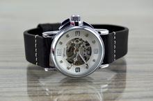 Дамски механичен часовник с каишка от естествена кожа BROSCOLORS