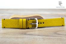 Каишка за Часовник от Естествена Кожа - Ярко Жълто