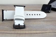 Каишка за Apple Watch от Естествена Кожа / Бяла / Ръчно зашита