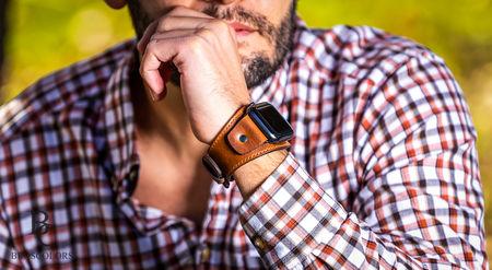 Apple кожена каишка за часовник, Apple каишка за часовник, кожена apple каишка, каишка за часовник тип гривна, каишка гривна за Apple, ейпъл кожена каишка за часовник, дизайнерски Каишки за часовник