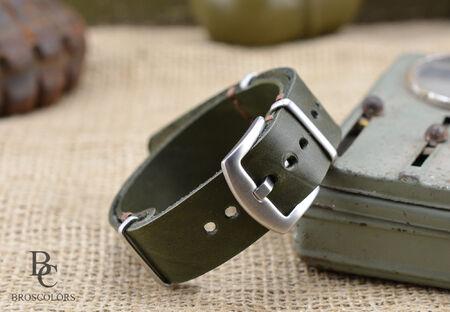 Нато Каишка за часовник Зелена
