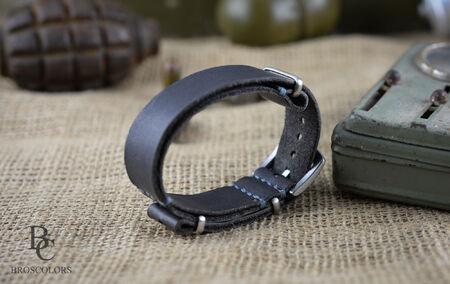 Nato Каишка за Часовник/ Сива кожа