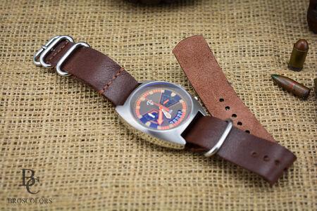 Zulu Каишка за Часовник (Кафяв цвят)