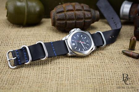 Zulu Каишка за Часовник (Черен цвят)