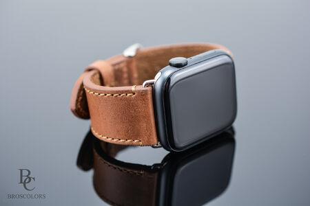 Кожена Каишка за Apple Watch / Цвят Коняк