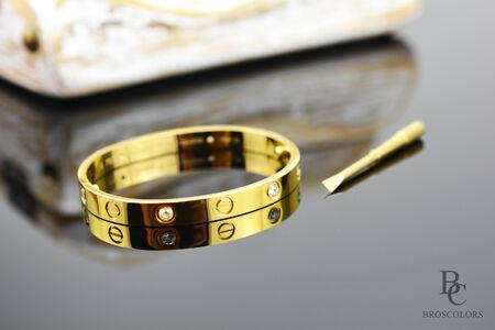 Гривна от Стомана в цвят Злато, Love Bracelets