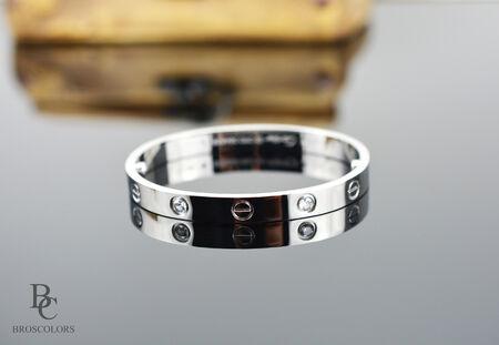 Гривна от Стомана в цвят Сребро, Love Bracelets
